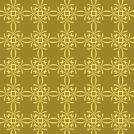 Seamless floral background with geometric pattern Vector