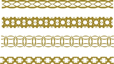 Set of abstract graphic border Vector