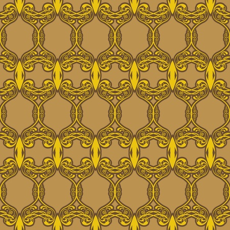 seamless background with ethnic pattern Stock Vector - 20883184