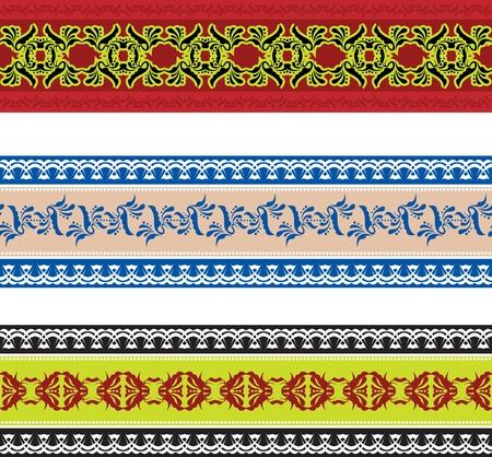 slavic: Set di seamless slava Vettoriali