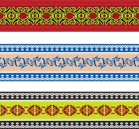 slavic: Set of seamless slavic pattern Illustration