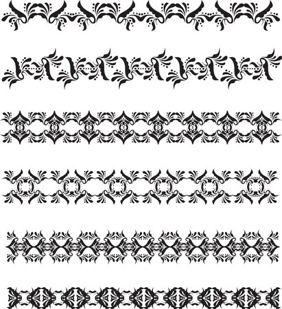 set of black vintage borders Vector