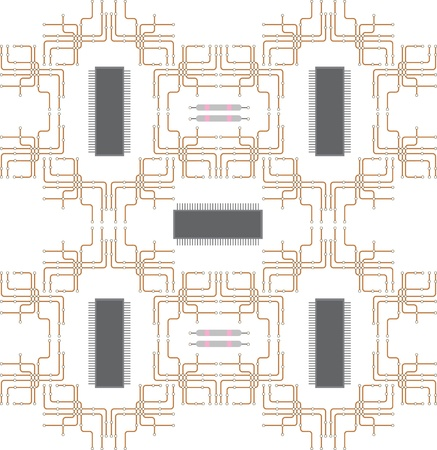 Schematic diagram of the central processor Vector