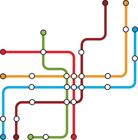 scheme of underground lines