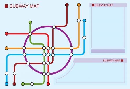 scheme of underground lines Vector