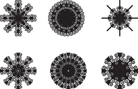 Set von floral Vintage-Elemente