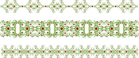 Set of green vintage borders Vector