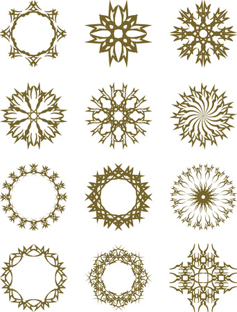 oriental: Set of decorative design elements