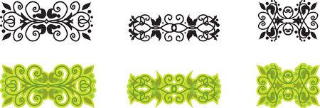 Set of floral ethnic pattern