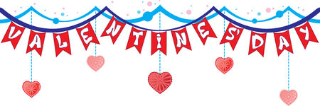 garland with flags Valentine's Day Stock Vector - 25433783