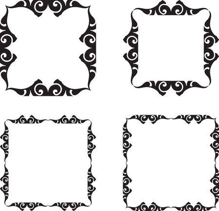 Set of graphic vintage frames