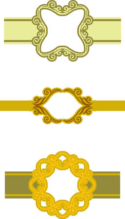 set of pattern ethnic banner Vector