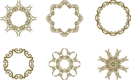 Set of abstract floral symbols Vector
