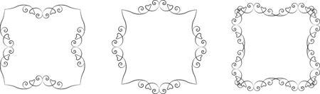 set of lace floral frames Vector