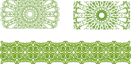set of floral pattern border Vector
