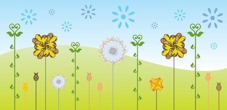fondo natural: fondo natural con flores abstractas
