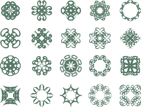 Set of abstract vintage symbols Vector
