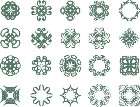 Set of abstract vintage symbols Vector