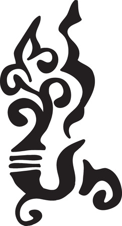 black abstract ethnic tattoo