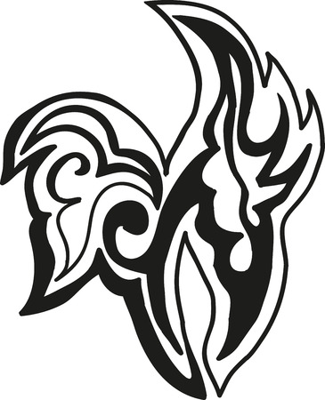black abstract ethnic tattoo Vector
