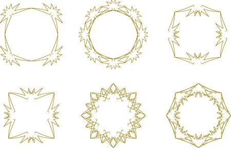 Set of lace vintage frames Vettoriali