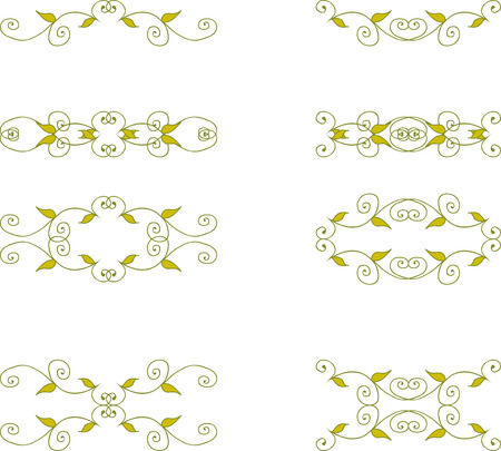 Set of branch elements with leaves Vector