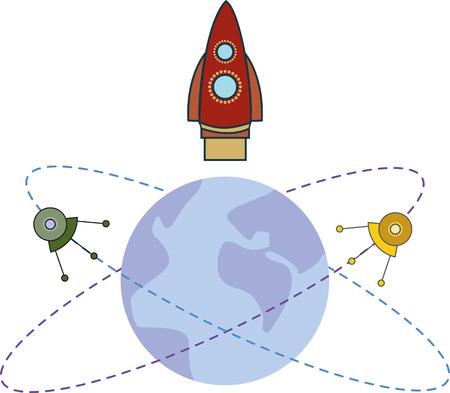 spacecraft: spacecraft and satellites in Earth orbit