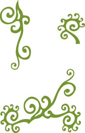 vintage element: Set of floral vintage element