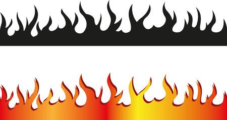 llamas de fuego: Conjunto de las fronteras de la llama sin costuras