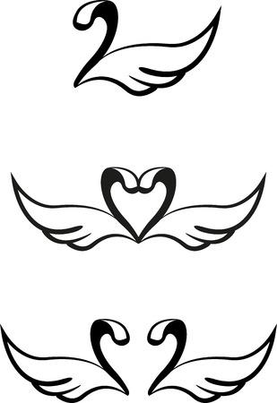 swans: Conjunto de cisnes gr�ficos abstractos