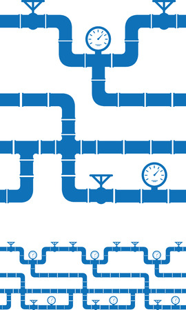 Set of seamless piping borders Illustration