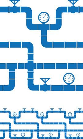 piping: Set of seamless piping borders Illustration