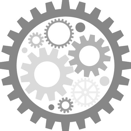 engranajes: imagen plana de engranajes de metal