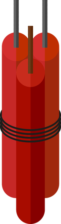 perilous: red sticks of dynamite for blasting