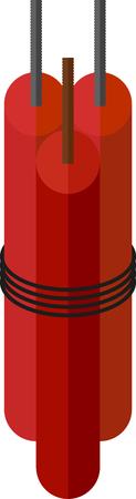 blasting: red sticks of dynamite for blasting