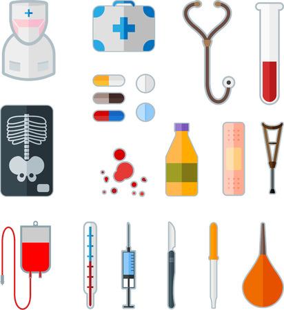 Set of medical flat icon