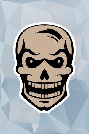 bony: graphic skull on a blue triangulator background