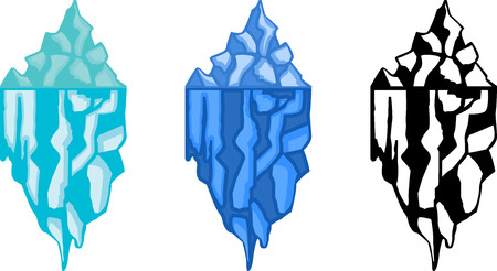 berg: Set of abstract graphic iceberg