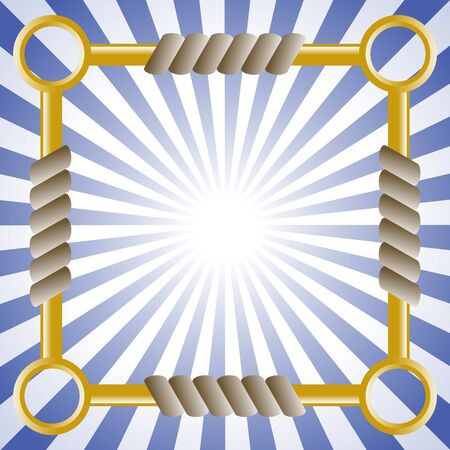 interlink: Square background with rope and chain.