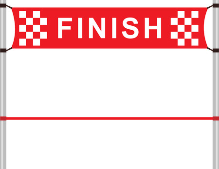 finishing line: Red ribbon in finishing line