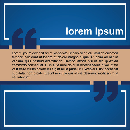 quotation: Abstract background with quotation mark