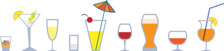 stemware: Set of colorful graphic stemware.