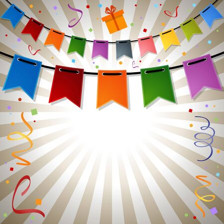 festive: festive rays background with flags. EPS 10