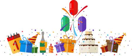 celebration party: Party and celebration design element. Illustration
