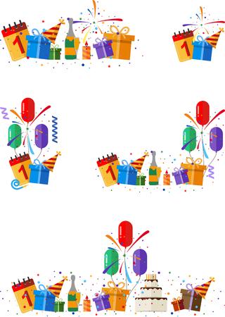 celebration party: Set of party and celebration design element.