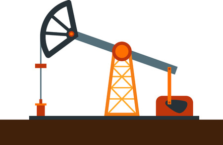 oilwell: Flat image of oil pump