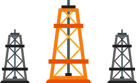 oilwell: Flat design element of oil industry