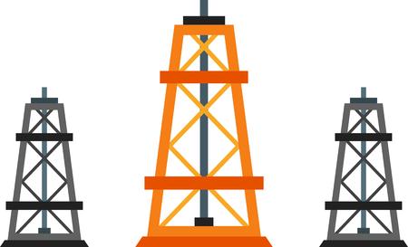 naphtha: Flat design element of oil industry