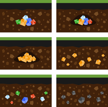 layer: Set of flat layer of ground and minerals.