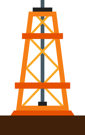 drilling rig: Flat image of drilling rig